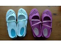 2 x pairs Girls Sketcher shoes