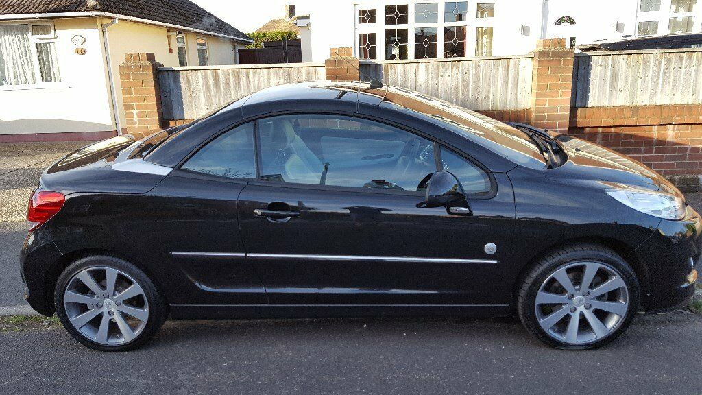 peugeot 207 cc 39 roland garros 39 black 2012 only 24996 miles in ringwood hampshire gumtree. Black Bedroom Furniture Sets. Home Design Ideas