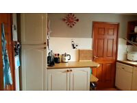 Used kitchen including cooker,fridge and dishwasher