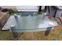 GLASS COFFEE TABLE LARGE. JOHN LEWIS (COLLECTION SE23)