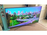 SAMSUNG UE55KU6020 55 Inch Series 6 Ultra HD 4K LED TV with Built-in Wi-Fi & Freeview HD - Silver