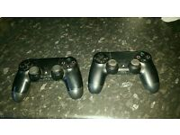 2 official sony ps4 controllers both faulty