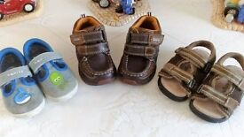 Clarks Shoes Size 4.5 F, Clarks Doodles Size 4 F and Walkright sandals size 4