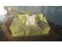 two seater and lounger sofa