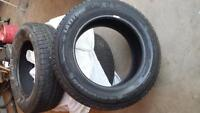 WINTER TIRES ALMOST NEW 225-65-R17