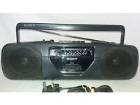 SONY CFS-20IL PORTABLE 4 BAND RADIO CASSETTE RECORDER STEREO MINI BOOMBOX