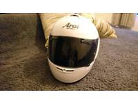 Arai axcess 2 motorcycle helmet med with black and clear visor (worn twice)