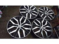 "4X19""Santiago style alloys 5x112 fit Caddy Van Golf Passat Jetta Seat Leon Audi A3 A4 Skoda"