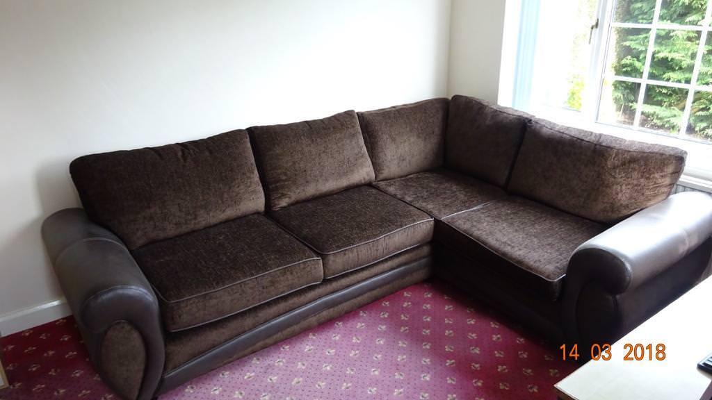 Dfs Fabric Corner Sofa 2017 In Harrogate North