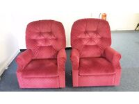 Two Red Armchairs Free To Take Very Comfortable And In Excellent Condition