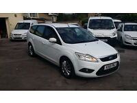 2010 / 10 PLATE Ford Focus 1.6TDCi Style Estate White 1 Owner Ex Council Owned FSH MOT £30 TAX