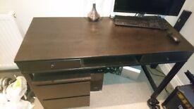 John Lewis Black Desk - Must go by saturday!
