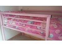 Pink mid high metal single bed with matress £60