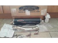 NEW BOS CARBON EXHAUST R1 R6 FZS1000 ZX9/6 CBR600