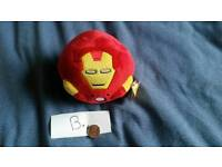 Marvel DC iron man beanie ballz TY teddy bear