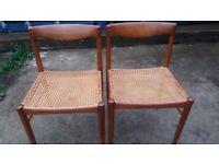 2 stunning H W Klein for Bramin Danish chairs