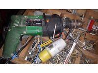 Hitachi 110V power drill and Bosch 110v angle grinder