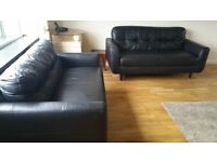2 x 2 seater leather sofas. Good condition