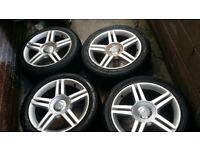 235/45/17 Audi/vw/ Skoda/ Leon Alloys and Tyres. S-line