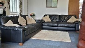 (Available) Leather Suite Sofa Settee (32) ~ Can Deliver