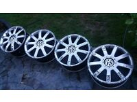18 Volkswagon transporter /passat / golf /audi alloys x 4