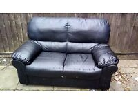 Free 2 seater leather sofa.some marks.