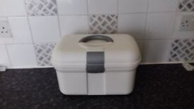 White and Grey Sewing/Work/Craft Box