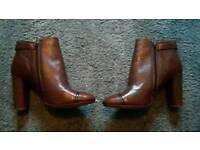 Brand new Next real leather brown ankle boots RRP £70 size 6.5 would fit size 6