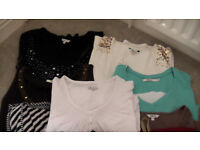 Bundle of top quality women's tops etc. VGC size 26-28