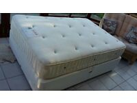 Standard Double Divan and Wooden Headboard