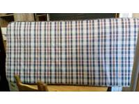 Single mattress spotlessly clean