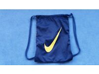 Blue & Yellow Nike Pull String Bag, Great for Backpack, Good condition, Contact me soon as, Cheap £1