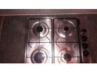 4 Burner Gas Hob with extractor fan