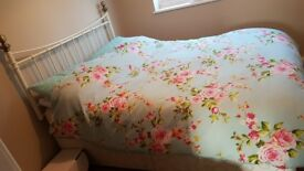Lovely Double Divan, 4 Drawer Bed with Mattress & Headboard
