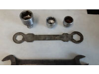 Mini -Morris 1100 -1300 etc special tools /Spanners & Sockets for Ball joint repairs. Snap-on