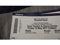 2 x Russell Kane tickets @ Tyne theatre and opera house