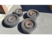 "Ford Mondeo MK3 16"" 5 stud steel wheels rims with 3 tyres"