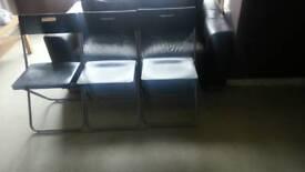 Ikea folding chairs x3