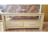 Wood & Glass TV table unit