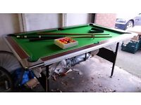 Foldable Pool Table inc Cues and Balls