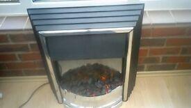 Dimplex coal effect Electric fire freestanding black coals or white pebbles GC