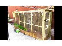 14ft Bird Aviary - fully heated and led lit.