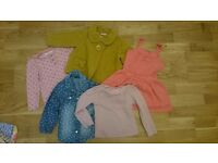 BIG BUNDLE OF GIRLS CLOTHES 24 ITEMS SIZE 12-18 MONTHS RELLY GOOD CONDITION