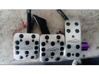 vauxhall astra mk4/van genuine irmscher metal pedals!