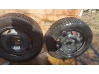 """2 Spare Car Tyres 15"""" Like Brand New"""