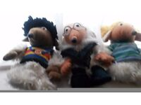 Three of the wombles 10 pound the lot would have to collect great condition