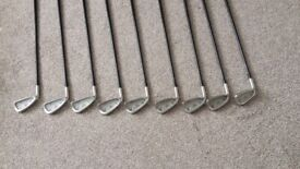 Golf clubs (Irons) and bag