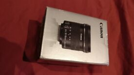 Canon 10mm-18mm EFS Lens With Image Stabiliser