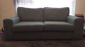 3 seater sofa, DFS, greeny blue, barely used