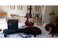 ELECTRIC GUITAR - PACIFICA 212VQM with LANEY AMP. GREAT CONDITION